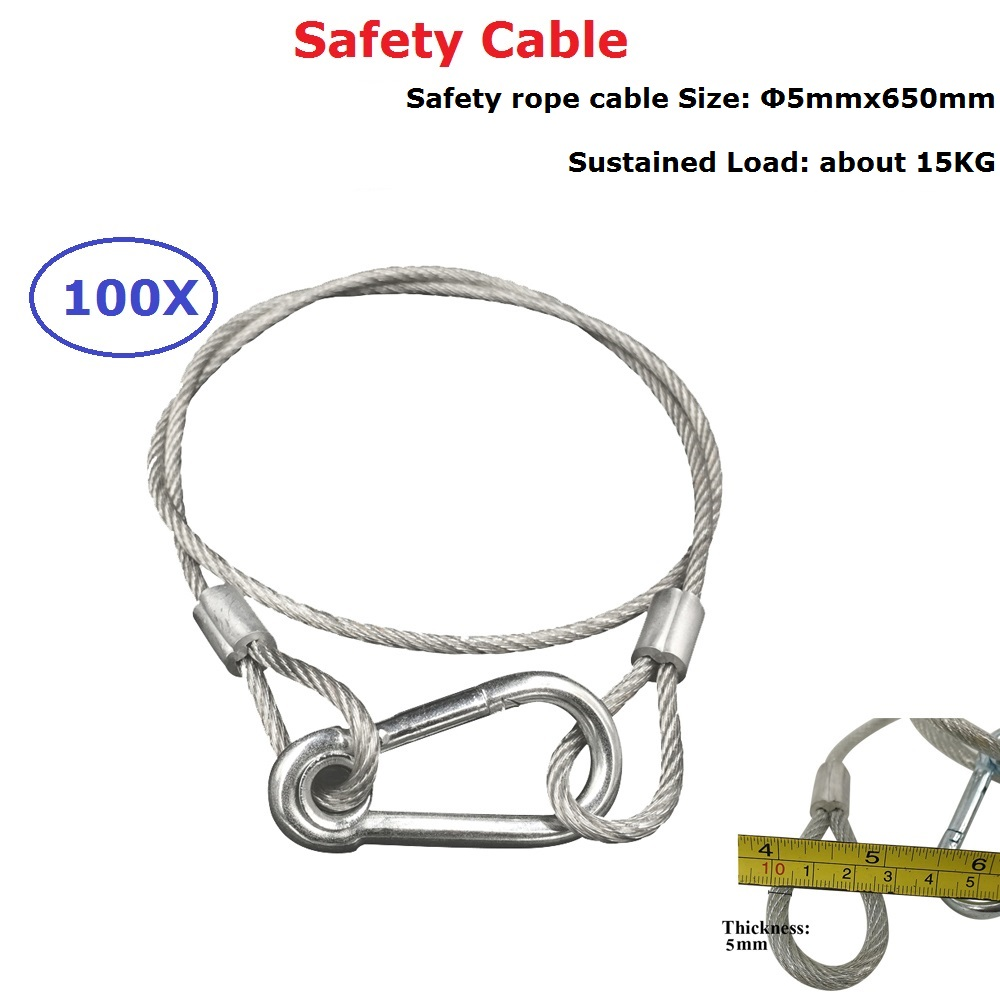 100XLot Cheap Price 5MM 680MM Load 15KG Steel Wire For