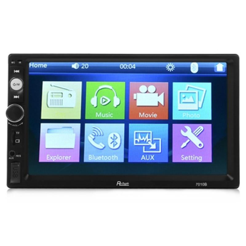 Rectangle 7010B 7 Inch 2 Din Car Radio Bluetooth Car MP3 MP5 Player HD Screen Video USB FM GPS Support TF Card Remote Control