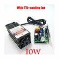 10w high power 450NM focusing blue laser module laser engraving and cutting TTL module 10000mw laser tube Laser module diode