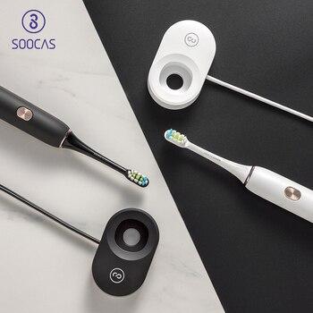 Soocas X3 USB беспроводной зарядки электрический Зубная щётка xiaomi soocare sonic Зубная щётка 4 Чистый режим для взрослых ультра sonic Зубная щётка APP