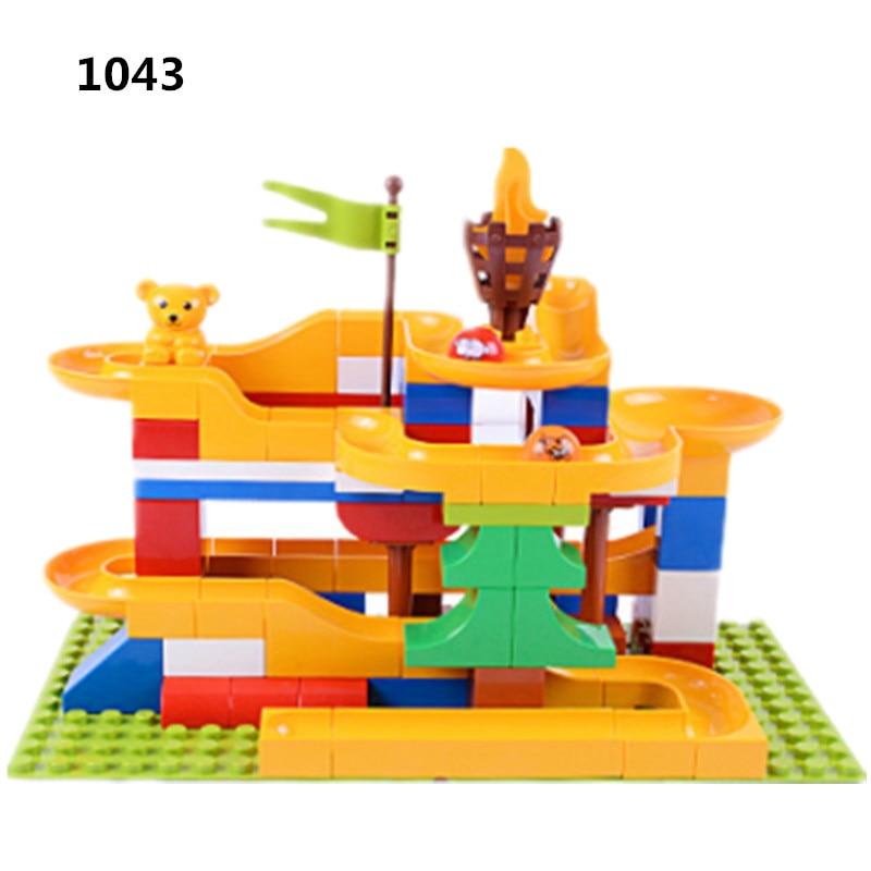 88 pièces bricolage blocs de Construction marbre course labyrinthe balles roulement briques de Construction Compatible avec Duploed jouets pour enfants cadeau