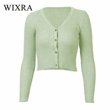 c924d4747976c Wixra Warm and Charm New Women Cardigan Knitted Sweater Coat Long Sleeve  Female Casual V-