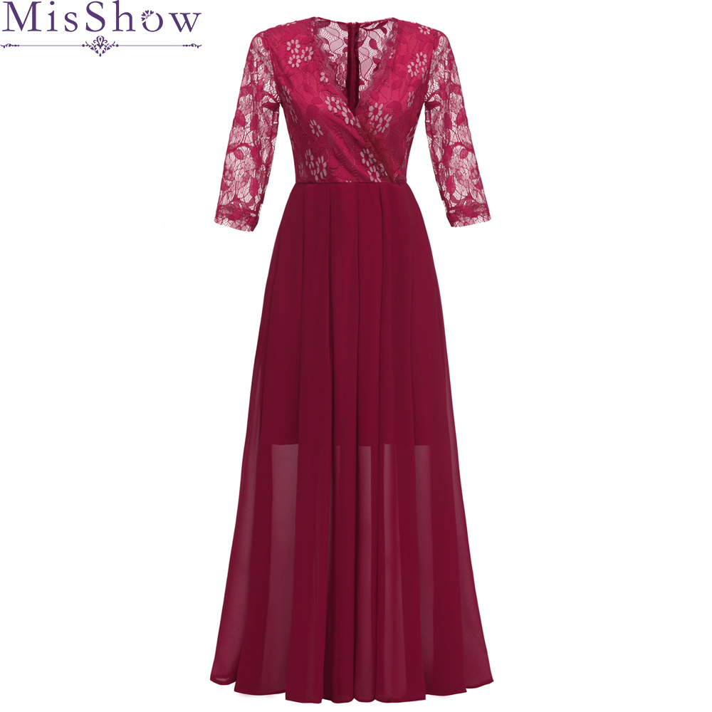 Burgundy Long Evening Dresses 2019 Backless V-Neck In Stock Real Photo Evening Gown Formal Dress Prom robe de soiree