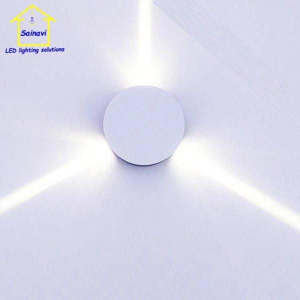 Round three hole LED Cross Star wall light for bar ktv decorative background lamp effect Pathway R/G/B Sconce Lighting