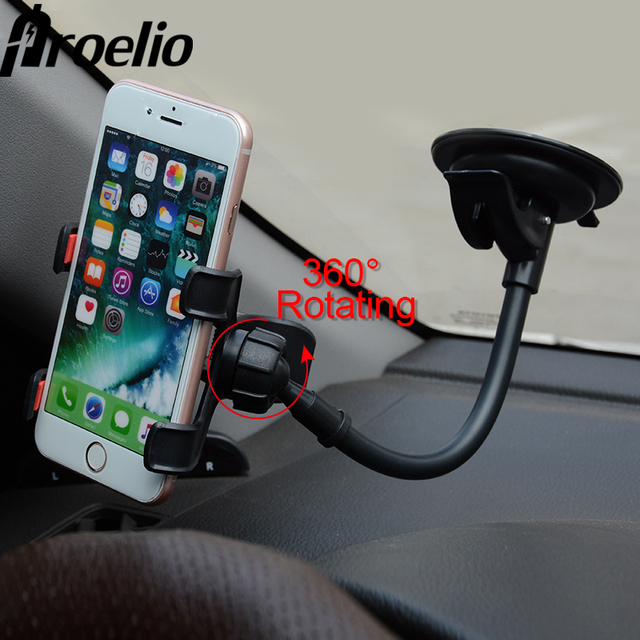 cd0cae76144f66 Universal Long Arm Car Windshield Dashboard Holder Sucker Cup Car Phone  Holder Stand For iPhone 7 6s 6 plus Samsung Xiaomi GPS