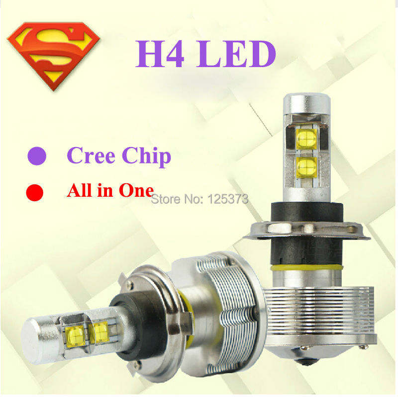 All in one Car H4 LED Headlight/Headlamps/Bulbs 3000LM H1 H3 H11 for KIA RIO TOYOTA Chevrolet Ford Mazda Skoda Renault