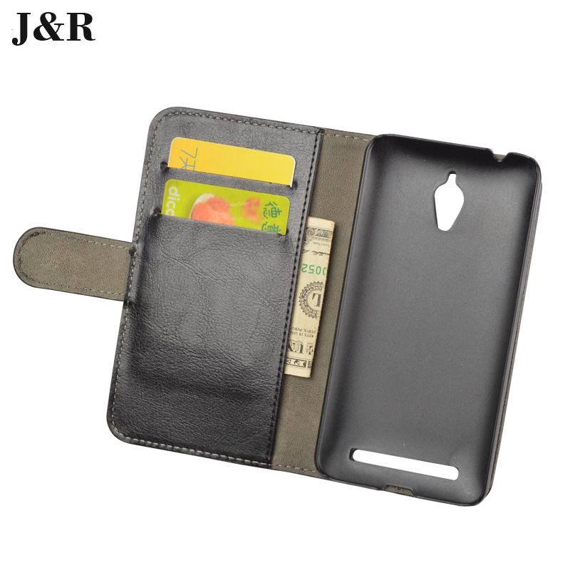 J &#038; R Кожаный чехол для <font><b>Asus</b></font> Zenfone Go <font><b>ZC500TG</b></font> Чехол Флип с подставкой дизайн слота телефон назад Обложка с подставкой деньги карман