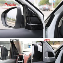 Tonlinker Interior Car Door Triangle Speaker Cover Sticker for Citroen C5 Aircorss 2018-19 Styling 3 PCS ABS sticker