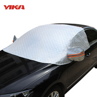 YIKA High Quality Four Layers Of Compound Cotton Aluminum Foil Car Covers Windshield Snow Blocked Anti