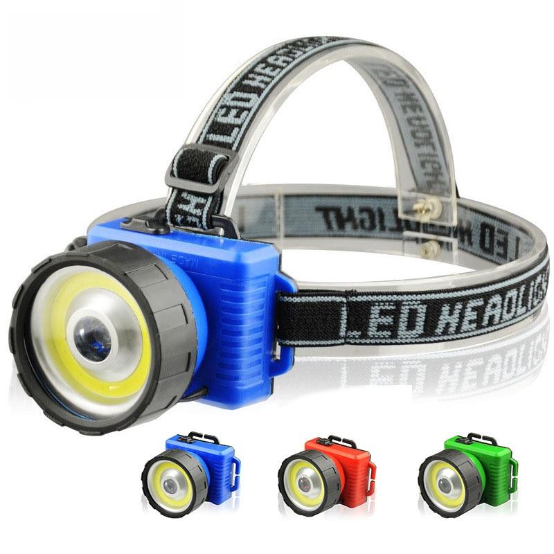 New 2 Modes COB LED Headlamp Waterproof COB Headlamps Dual Light Source headlight Torch AA Head Torch for Camping Biking laser hijau jarak jauh