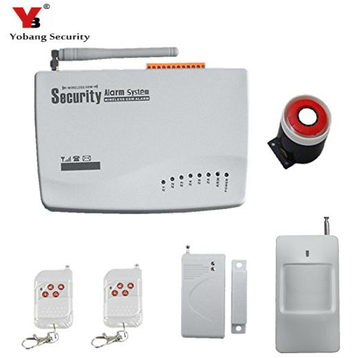 YobangSecurity Russian English Voice 433MHz Wireles Wired GSM Home Alarm System Remote Control PIR Sensor Door Window Sensor Kit russian phrase book