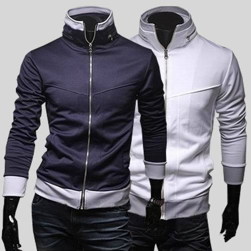 d107753a6 NEW Mens Athletic Sporty Slim Fit Fitted Sweatshirt Zipper Jacket Blazer  Sweat Shirt Stand Collar Free Shipping
