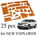 25 шт. Кожаный кубок дверь слот мат хранения напольные коврики для НОВЫЙ Ford Explorer 2016 2017 год
