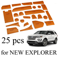 25pcs Leather door cup slot mat storage interior mats for NEW Ford Explorer 2016 2017 year