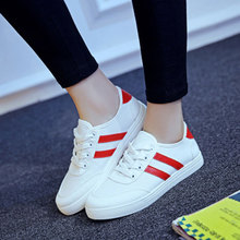 white canvas shoes laces female spring summer Jogging women casual shoes students sneaker safety creepers shoes