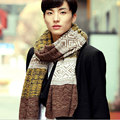 2017 new  winter hot style men's wool scarf thickening fall winter warm knitting yarn color matching high-grade leisure centers