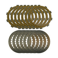 A Set Motorcycle Engine Parts Clutch Friction Plates Kit Steel Plates For SUZUKI DR250 1996 2008