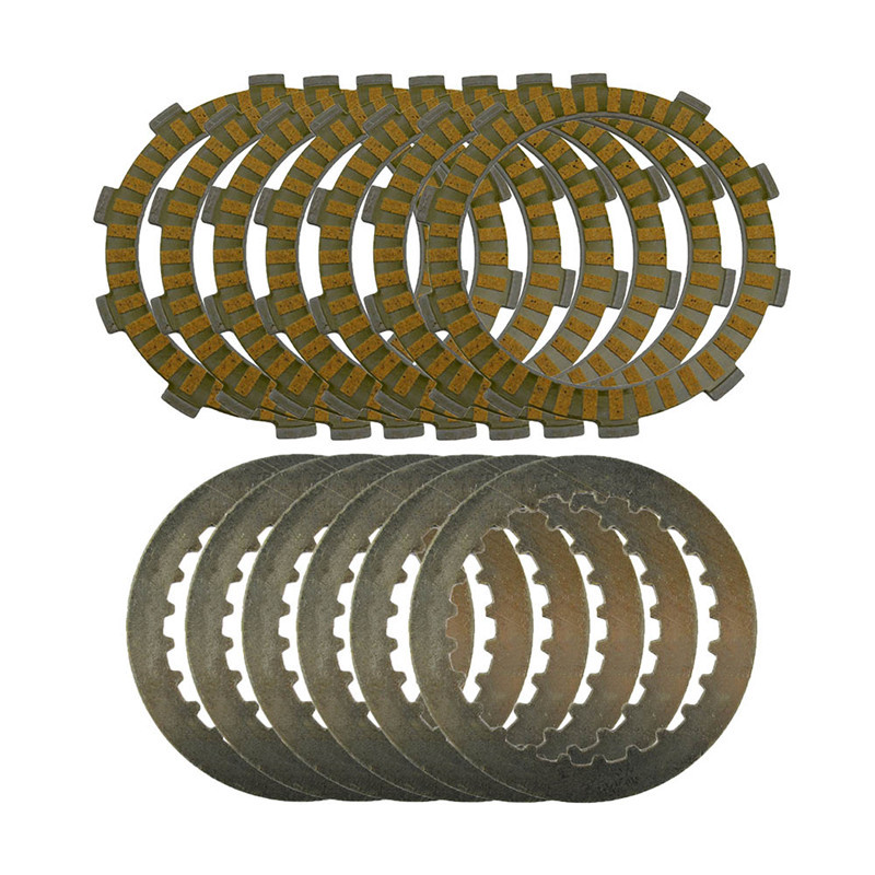ФОТО A set Motorcycle Engine Parts Clutch Friction Plates Kit & steel plates For SUZUKI DR250 1996-2008 Djebel 250 Twin Cam