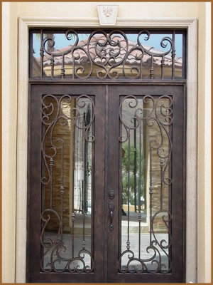 Best Selling Double Wrought Iron Doors Interior Doors TCD 0168