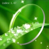 Clear 1 67 Index CR 39 Resin Lens HMC UV Reflective Coating Lens Progressive Optical Glasses