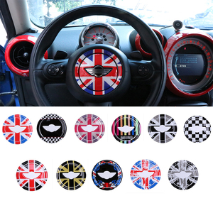 Image 4 - Pour MINI COOPER R55 R56 R57 R58 R59 R60 R61 Clubman Countryman volant Center 3D dédié voiture autocollant décalcomanie couverture 2 pièces