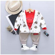 цены на ZWXLHH 2019 New Spring Baby Girls Boys Clothing Sets Toddler Infant Clothes Suits Cartoon Coats T Shirt Pants Children Costume  в интернет-магазинах