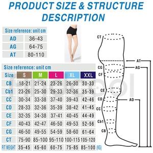 Image 5 - Findcool בגובה הברך גרבי דחיסה רפואית דליות גרב דחיסת Brace גלישת עיצוב עבור נשים גברים