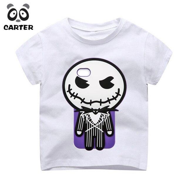 Niños Halloween ciudad calabaza rey Jack Skellington dibujos animados  diseño Camisetas verano niños divertido camiseta niños 5bc25414d14a3