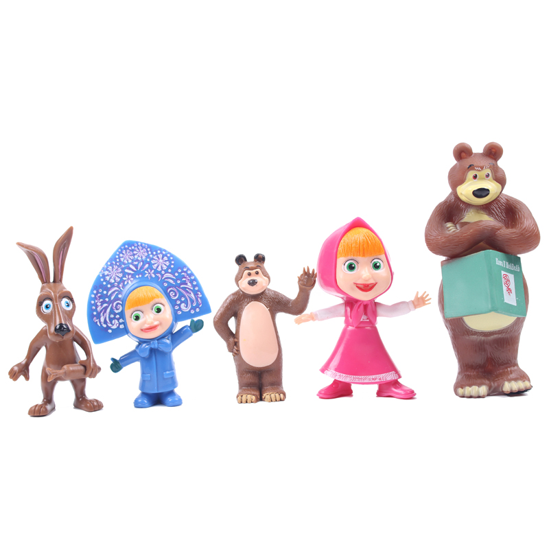 Masha And the Bear Learning&Education Action Figure Toys Christmas Gift For Kids 400% bearbrick bear brick ted2 bear model art figure as a gift for boyfriends girlfriends and students