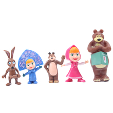 Masha And the Bear Learning&Education Action Figure Toys Christmas Gift For Kids