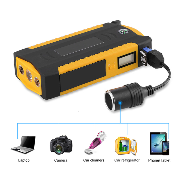 600A 82800mAH Starting Device Power Bank Jump Starter Car Battery Booster Emergency Charger 12v Multifunction Battery Booster 2