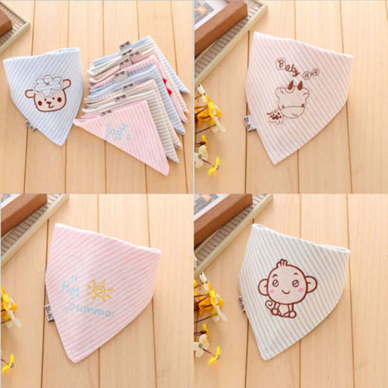 Unisex Infant Bibs Feeding Saliva Towel Dribble Triangle Bandana Head Scarf Cute Cartoons Towels