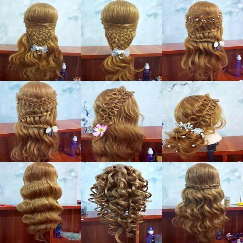 Qoxi Professionele training hoofden met 80% real human haren kan gekruld praktijk Kappers mannequin poppen Styling maniqui