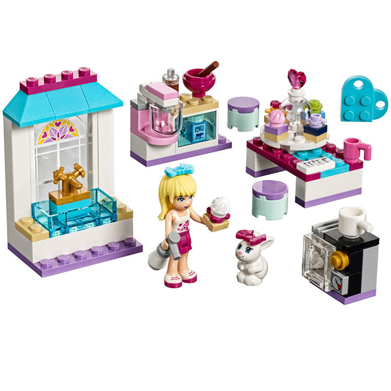 Bela Friends Series Stephanie's Friendship Cakes Model Building Block Bricks Compatible With Legoings Friends bevle 10605 bela friends series andrea s musical duet model building block bricks compatible with lepin friends 41309
