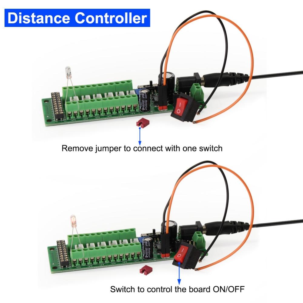 Image 5 - 1X Power Distribution Board Self adapt Distributor HO N O LED Street Light Hub DC AC Voltage PCB012 Train Power ControlModel Building Kits   -