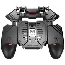 Para o BLOCO de NOTAS Novo Controlador PUBG Ajudante controle para celular AK77 Telefone Móvel Lidar Com a Água-de refrigeração Ventilador Do Radiador Seis Dedos PUGB Lidar Com o Poder banco