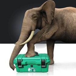 LAOA impermeable Kit de herramienta de 15 /17/19 caja de herramientas sello de la Caja a prueba de golpes a prueba de caja de plástico Caja de Herramientas portátil maletín para herramientas