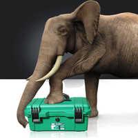 """LAOA trousse à outils étanche 15 """"/17""""/19 """"boîte à outils deux couches boîte à joint boîtier antichoc en plastique boîte à outils valise portable pour outils"""