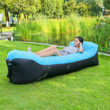No Need Air Pump! Latest Portable Bean bag Chair for Baby Adult Inflatable Air Sleeping Sofa Outdoor Lazy Banana Beach Bed(China)