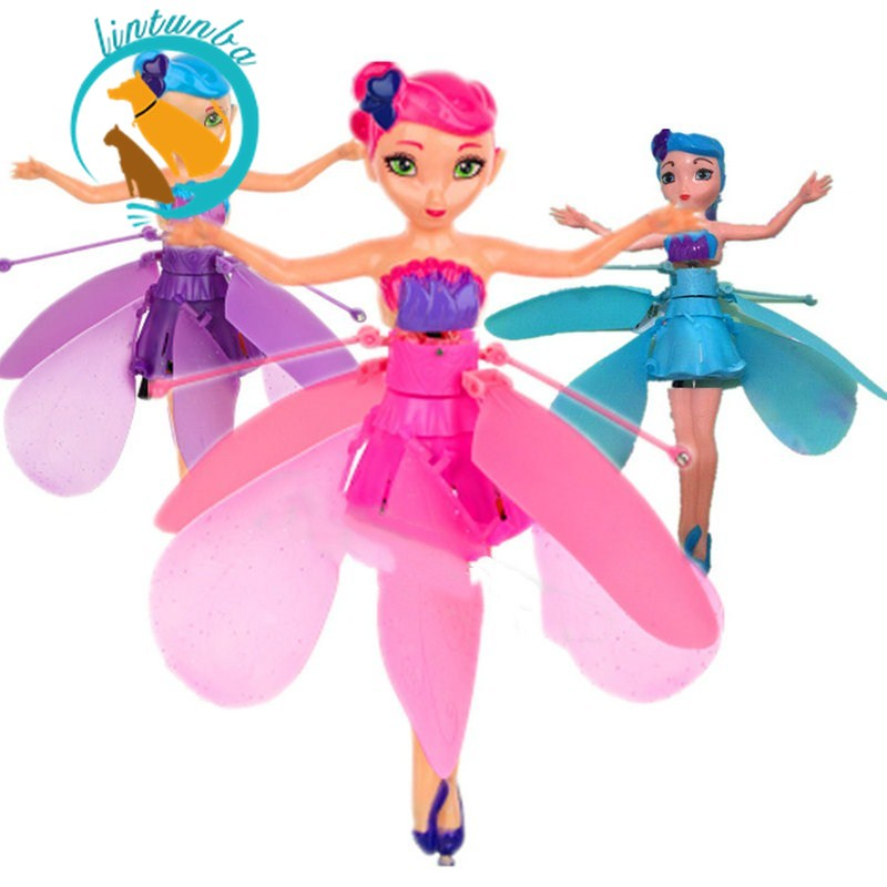 1pc Creative Fairy Princess Electronic Plush Stuffed Toy Kawaii Fairy Induction Aircraft Toys for Kids Gifts