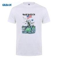 GILDAN 100 Cotton O Neck Customised T Shirt Gildan Hot Iron Maiden Final Frontier 2010 USA