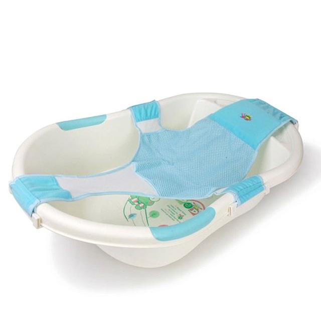 Alta Qualidade Do Bebê Ajustável Assento De Banho de Banheira de Bebê Assento De Segurança Do Assento de Banho Do Bebê Rede de Segurança Anti-skid Apoio infantil Chuveiro