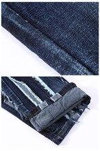 European American Style 2017 Hommes de jeans slim denim pantalon jeans de mode marque de luxe Droite bleu punk mince jeans pour hommes