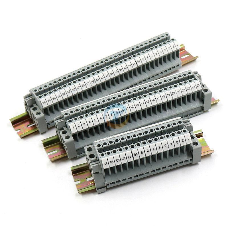 UK2.5B UK Series DIN Rail Screw Clamp Terminal Blocks StripUK2.5B UK Series DIN Rail Screw Clamp Terminal Blocks Strip
