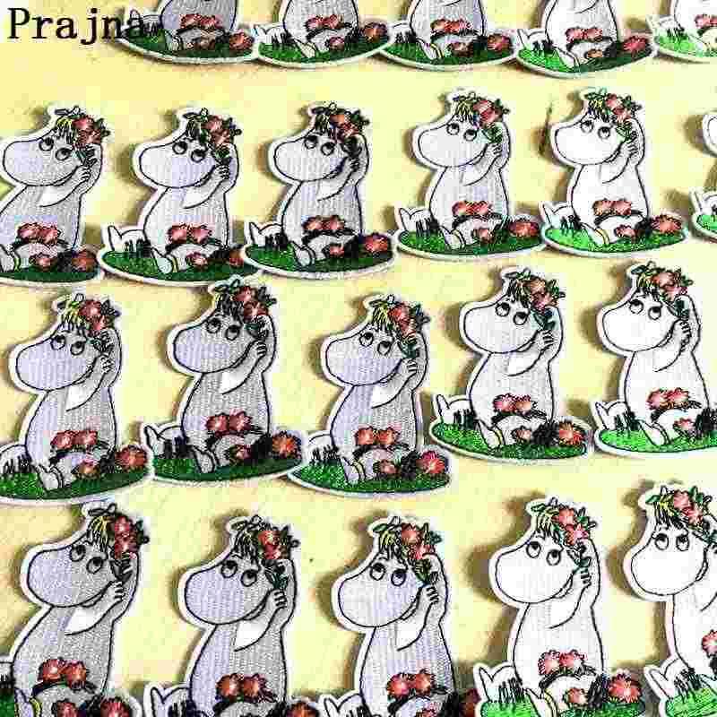 Hippo demir On yamalar aplike İşlemeli demir-on Hippo yamalar karikatür hayvan aplike bebek çocuklar için Jean ceket kazak DIY F