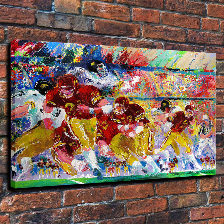 LeRoy Neiman Music and Sports Event Color Print Canvas Painting Living Room Bedroom Home Decor Modern Mural Art Oil Painting#050
