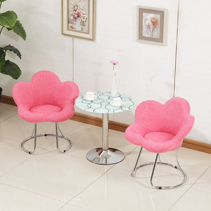 Us 65 8 18 Off Creative Makeup Chair Modern Minimalist Bar Chair Living Room Lounge Chair Bedroom Princess Pink Cute Beauty Dressing Stool In Living