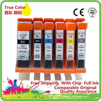 Replacement  PGI 770 PGI-770 PGI770 PGI-770XL PGI-770BK Ink Cartridges For Canon Pixma MG7770 MG-7770 MG 7770