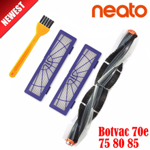 Generic combo Brush blade brush and bristle brush Beater+2Pcs dust filter hepa for Neato Botvac 70e 75 80 85 robot Cleaners цены онлайн