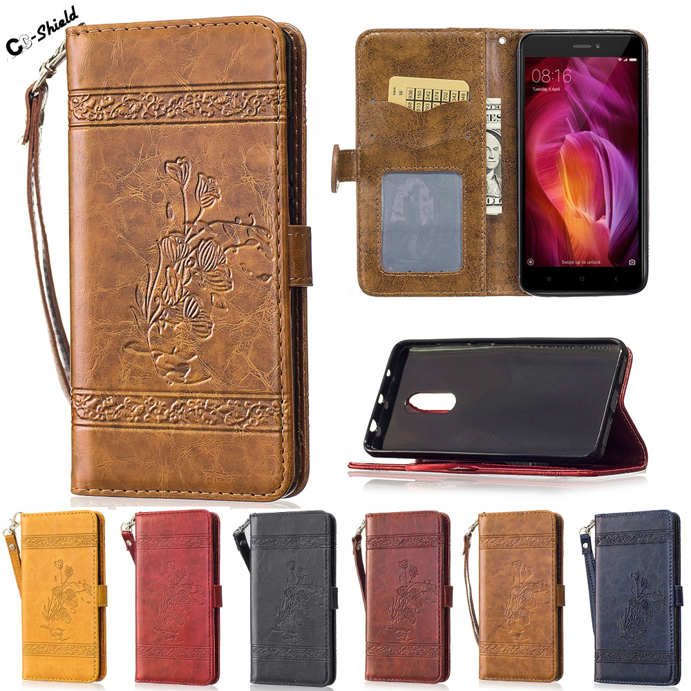 "Retro luxury oil Flip Case for Xiaomi Redmi Note 4 Red mi Note4 Case Phone Leather Cover for Xiao Mi Red mi Note 4 5.5"" Cases"